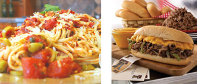 Linguini and Philly Cheesesteak