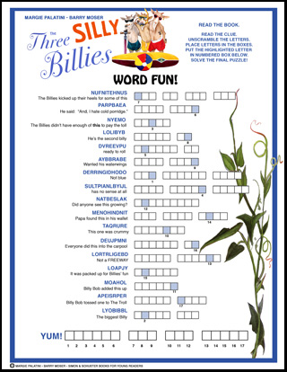 Three Silly Billies - Word Puzzle